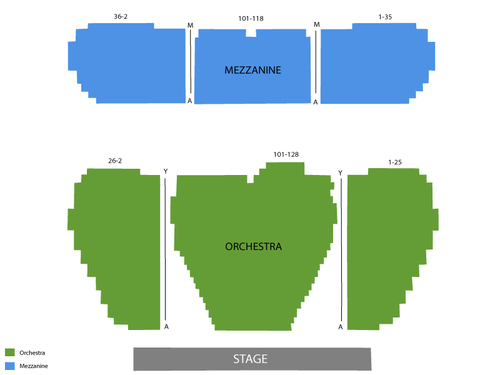 Marquis Theatre (New York) Seating Chart