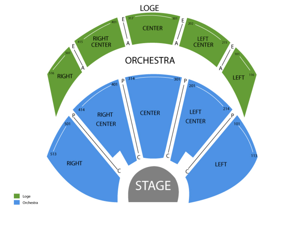 Seating Chart Vivian Beaumont Theatre - Lincoln Center