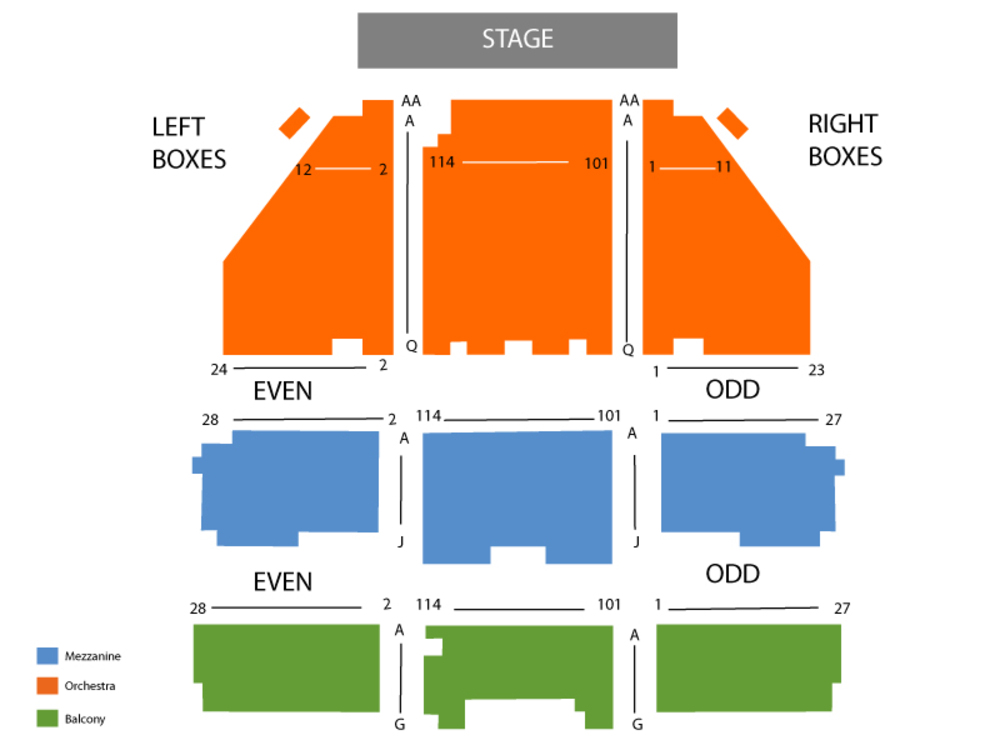 Seating Chart Longacre Theatre
