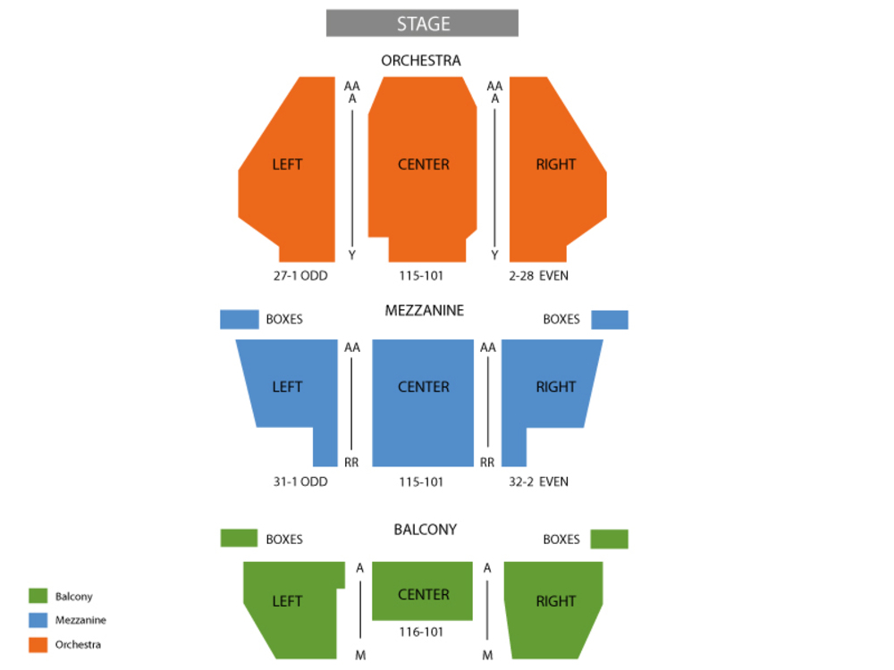 New Amsterdam Theatre seating map and tickets