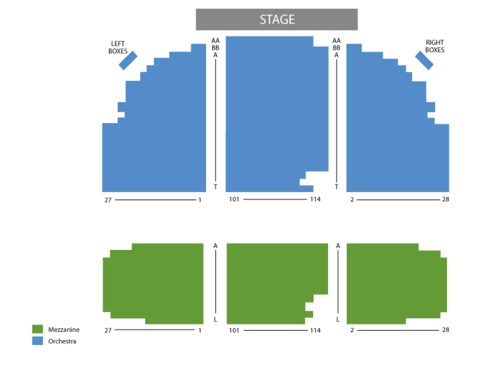Seating Chart Broadhurst Theatre