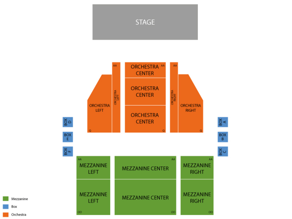 Seating Chart Nederlander Theatre