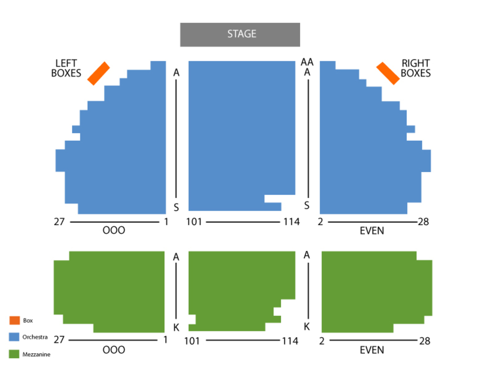 Seating Chart Gerald Schoenfeld Theater