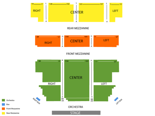 Majestic Theatre (New York) Seating Chart