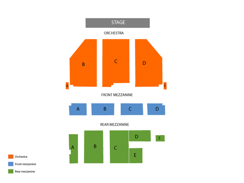 Broadway Theatre-NY Seating Chart