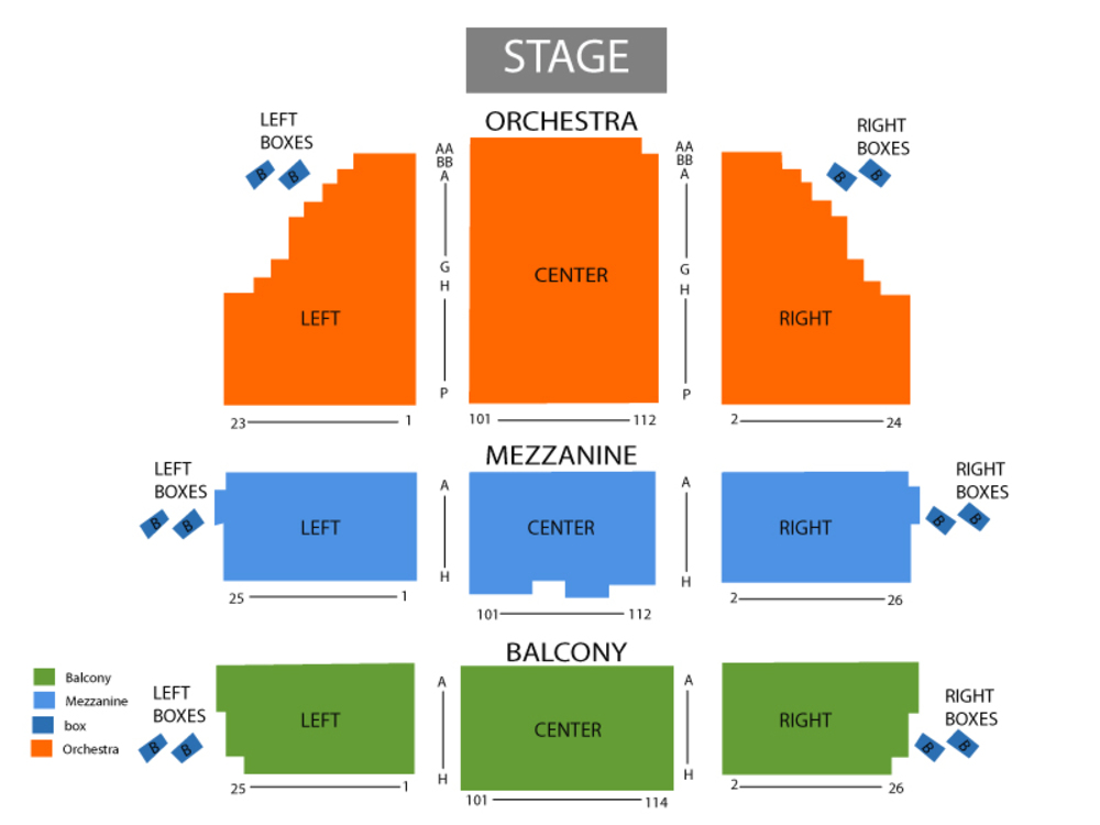 Seating Chart Cort Theatre
