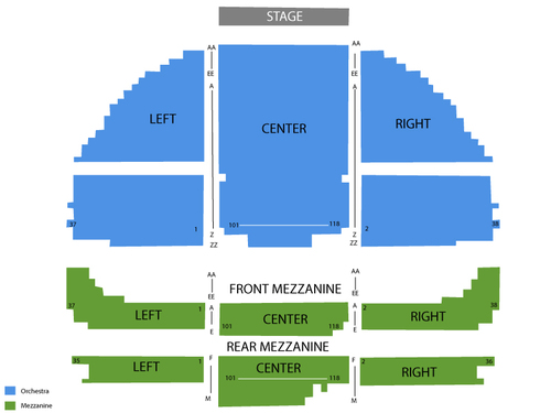 Gershwin Theatre Seating Chart