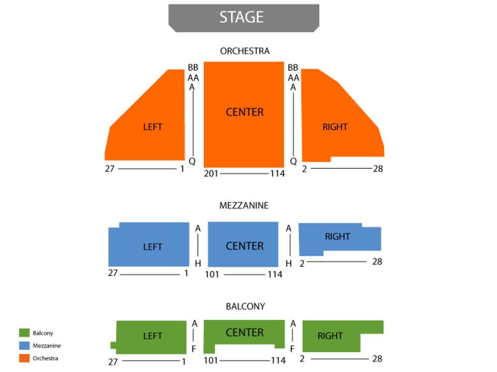 Seating Chart Belasco Theatre - NY