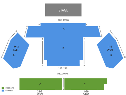 New World Stages - Stage Three Seating Chart