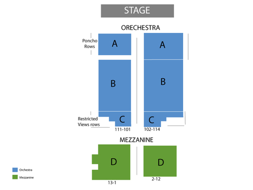 Blue Man Group Venue Map