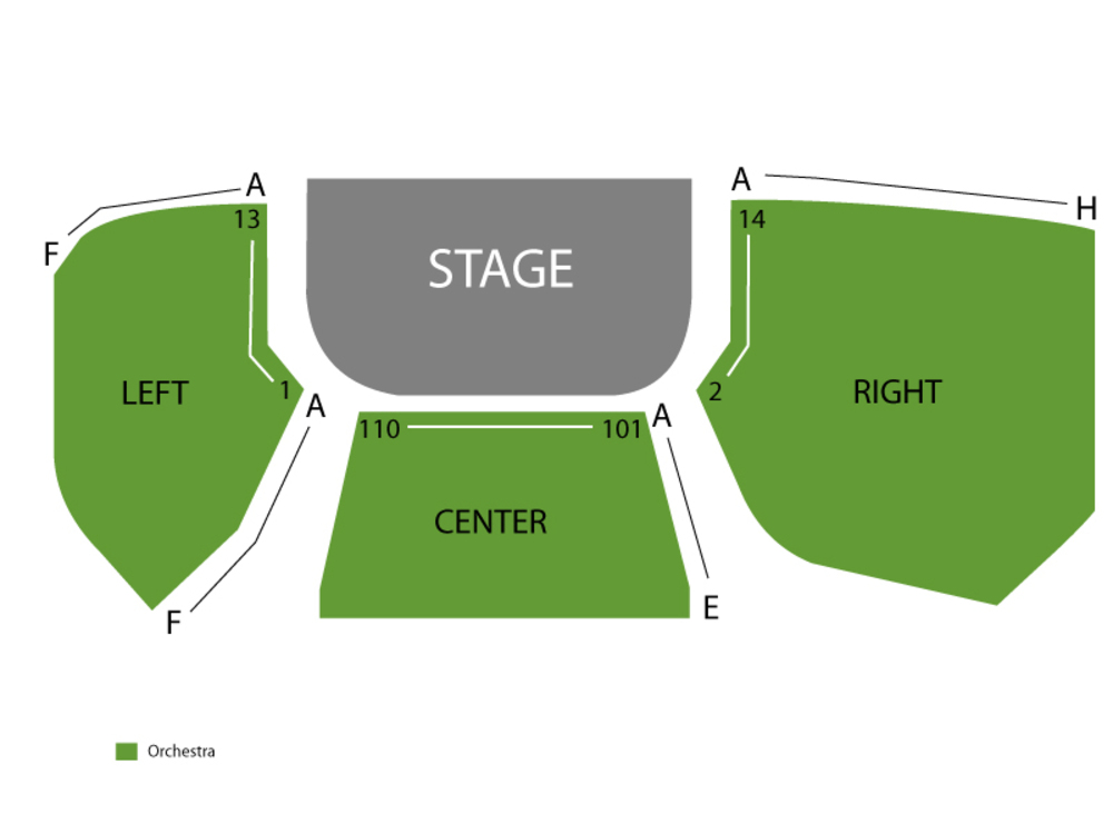 Seating Chart Snapple Theater