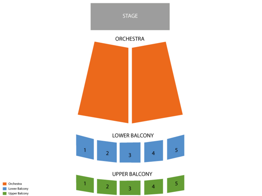 Million Dollar Quartet Venue Map