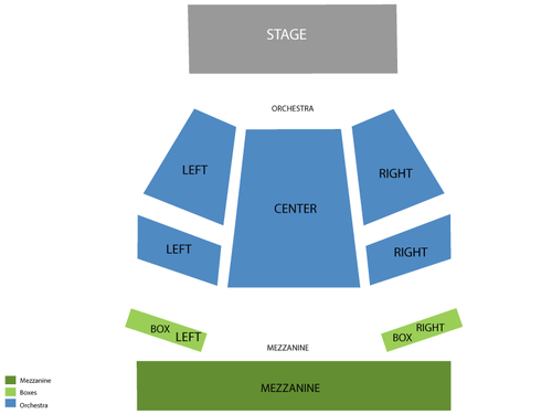 Geffen Playhouse - Gil Cates Theater Seating Chart