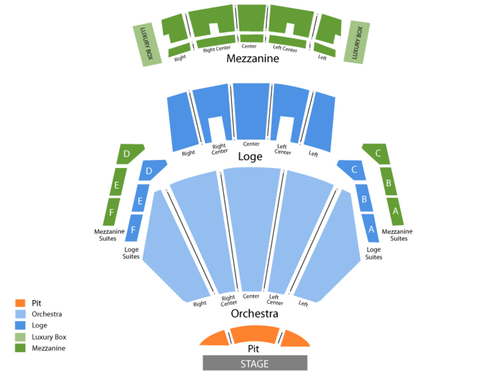 Banda El Recodo Venue Map