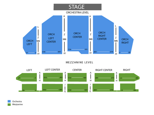 Pantages Theatre - CA Seating Chart