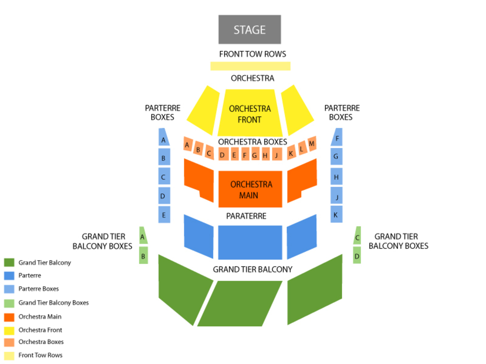 Gallo Center For The Arts seating map and tickets
