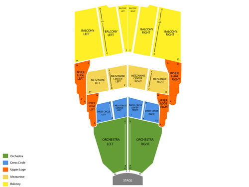 Sister Act Venue Map