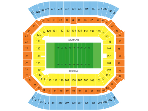 2014 Capital One Bowl - Wisconsin Badgers vs South Carolina Gamecocks Venue Map