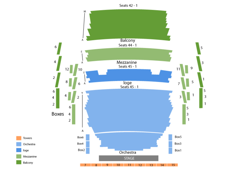David Sedaris Venue Map
