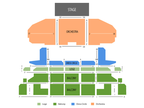 We Will Rock You Venue Map