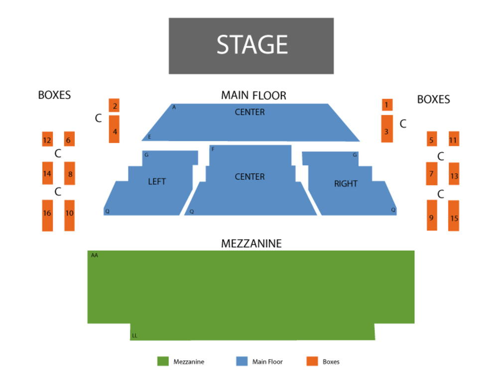 The Outsiders - Preview Venue Map