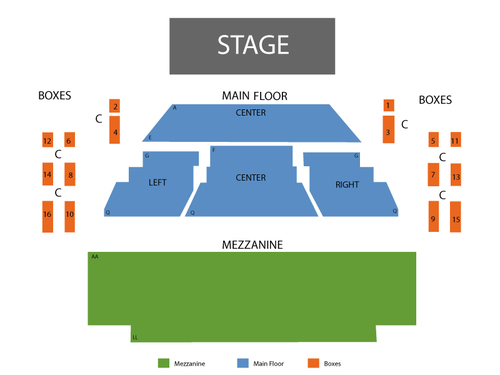 Goodman Theatre - Albert Theatre Seating Chart