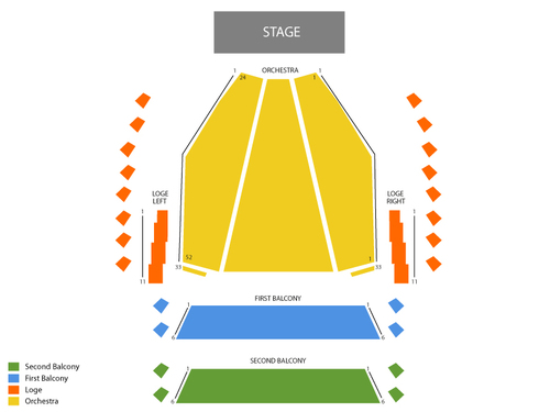 Centennial Concert Hall Seating Chart