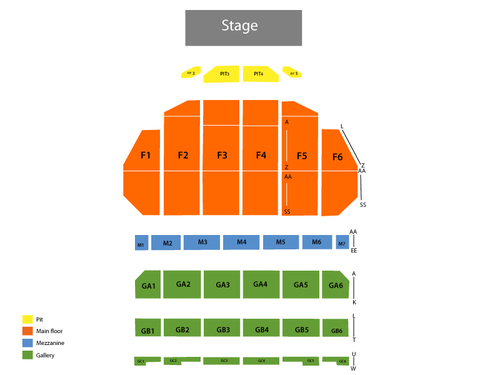 Sarah Brightman Venue Map