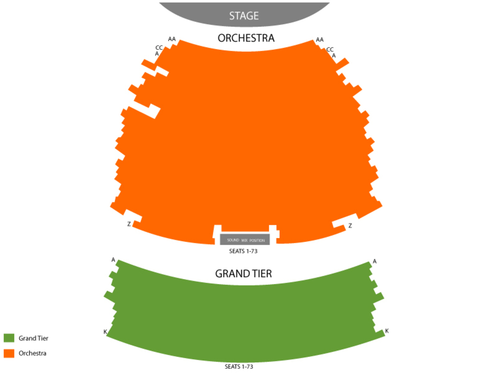Wharton Center seating map and tickets
