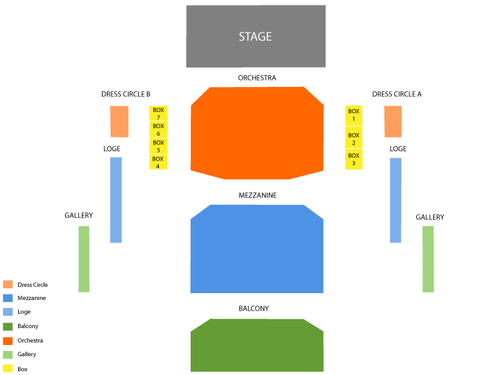 Billy Elliot Venue Map