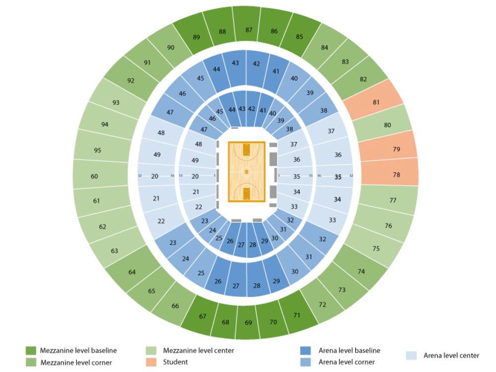Texas Longhorns Basketbal Season Tickets Venue Map