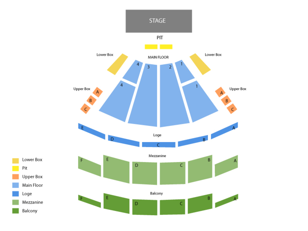 Palace Theatre Columbus seating map and tickets