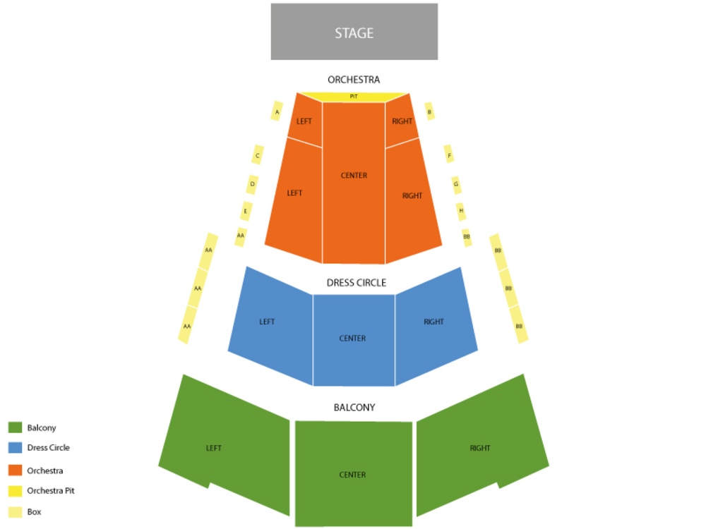 Les Miserables (Postponed) Venue Map