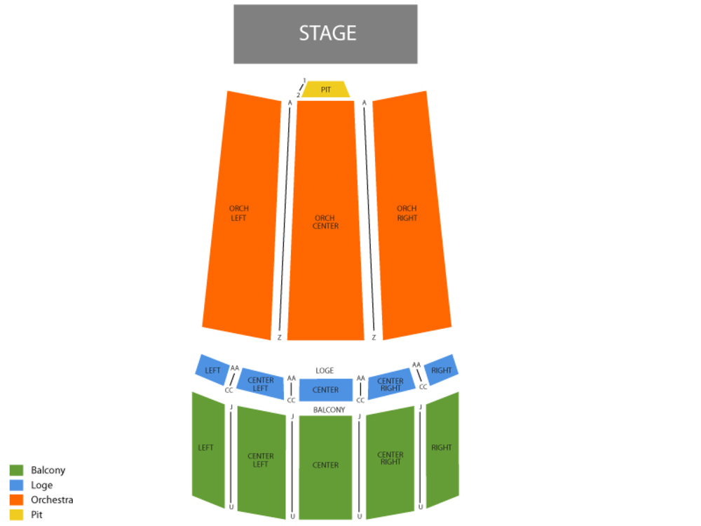 Hershey Theatre seating map and tickets