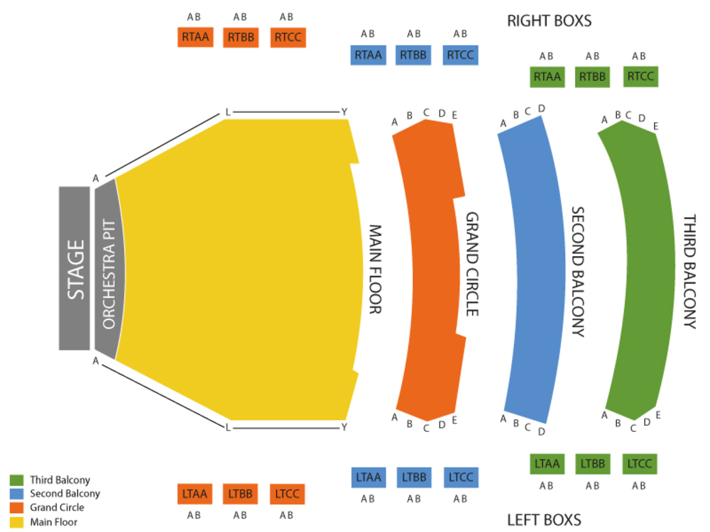 Moscow Ballets Great Russian Nutcracker Venue Map