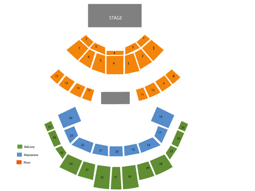 Grand Ole Opry: Andrew Peterson Venue Map