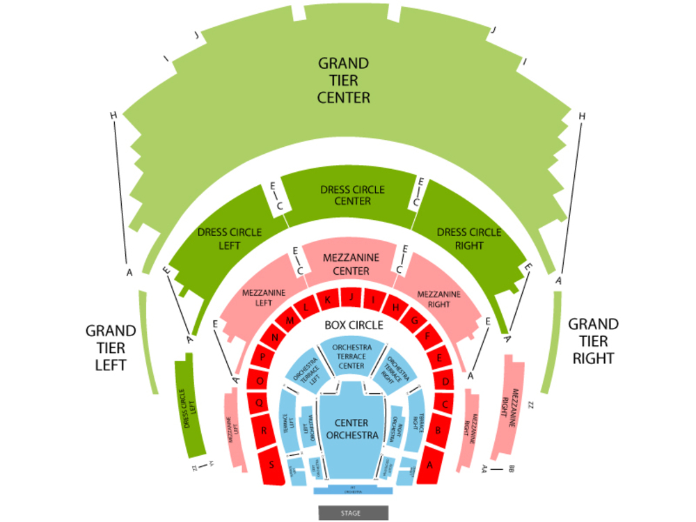 Dallas Opera - Carmen Venue Map