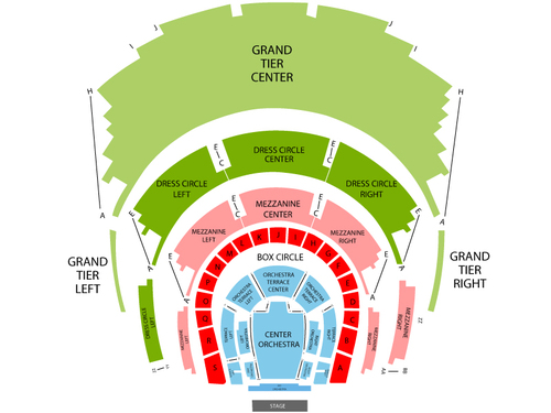 The Tenors Venue Map