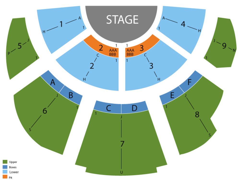 Peter Pan Venue Map