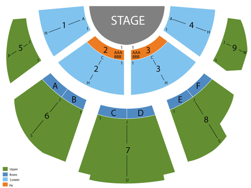 Casa Manana Seating Chart