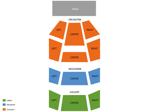 Ghost - The Musical Venue Map