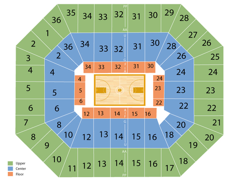 Friel Court at Beasley Coliseum Seating Chart