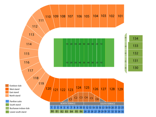 Notre Dame Fighting Irish at Purdue Boilermakers Football Venue Map