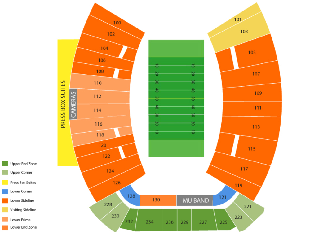 Western Kentucky Hilltoppers at Marshall Thundering Herd Football Venue Map