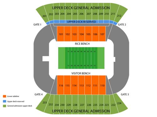 Rice Stadium Seating Chart