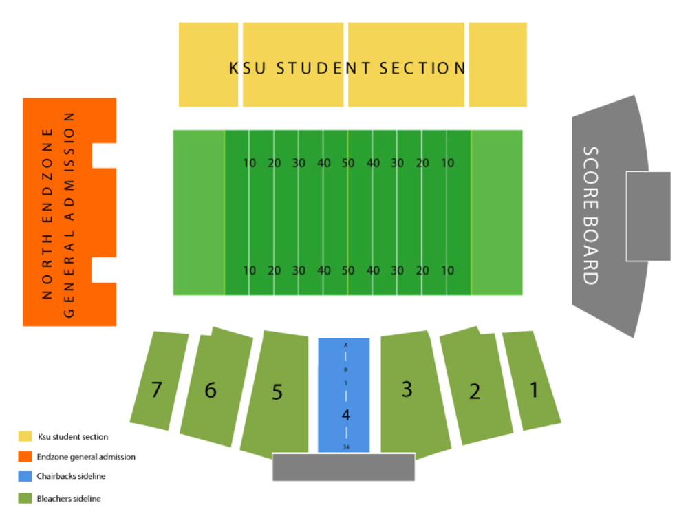 Seating Chart for Football Seating Chart at Dix Stadium
