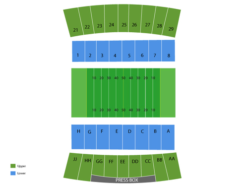 War Memorial Stadium (Laramie) Seating Chart