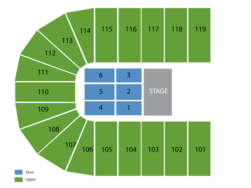 Orleans Arena Seating Chart