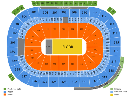 WWE - World Wrestling Entertainment Venue Map