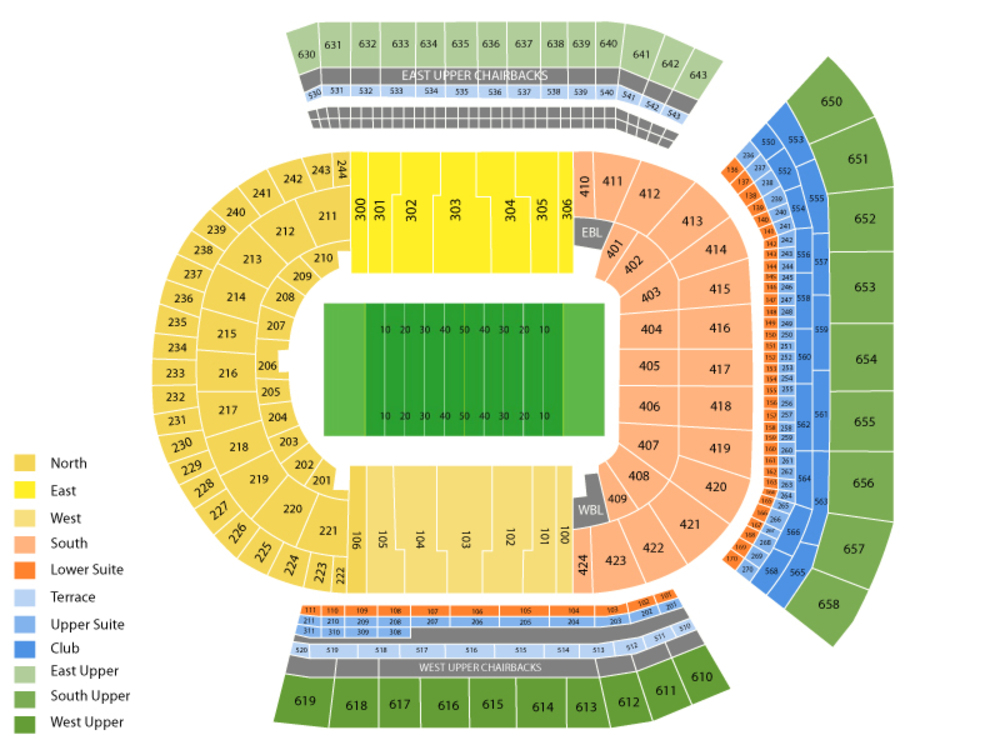 Rice Owls at LSU Tigers Football Venue Map